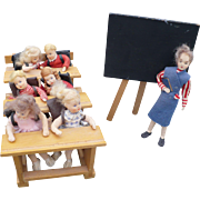 Erma Meyer Teacher Students Desks Miniature Figures