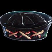 Bakelite Sailor Hat Pin