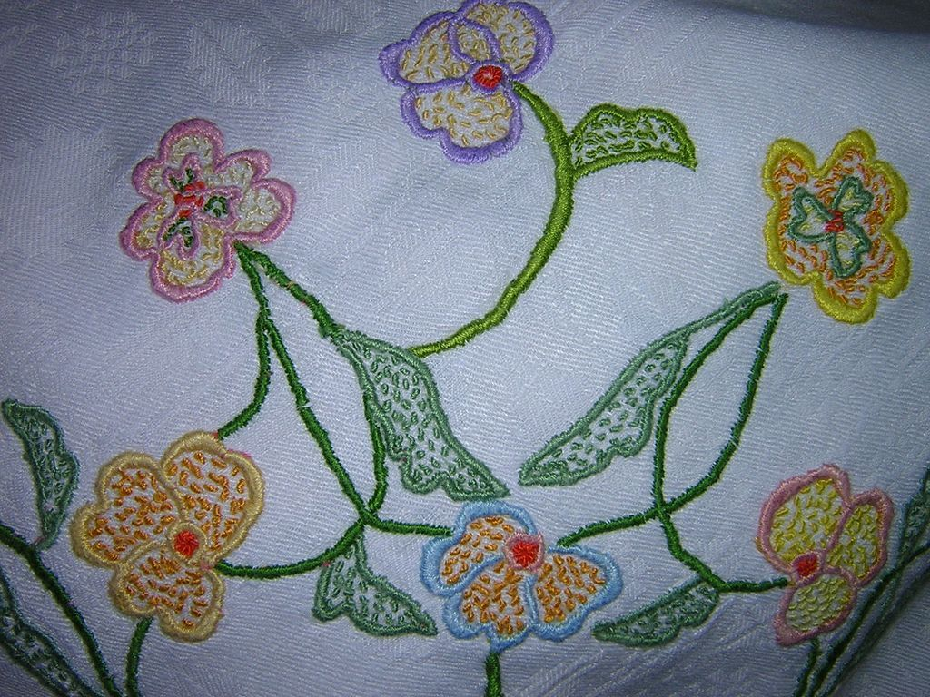 Hand Embroidered Patterned Tablecloth From Looluus On Ruby