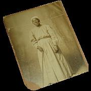 1800's Elderly Black Lady Cabinet Card Black Americana