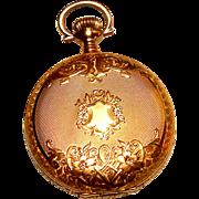 14K Yellow Gold Lady Waltham Small Pocket Watch Model 1900