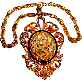 Signed Lucien Piccard Baroque Revival Necklace circa 1970