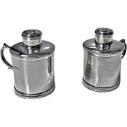 Unusual Miniature Sterling Silver Tankard Casters Pepper Salt, London 1885