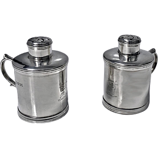 Unusal Miniature Sterling Silver Tankard Casters, London 1885