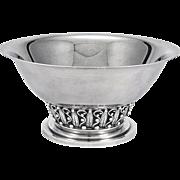 Large Evald Nielsen Scandinavian Sterling Silver Bowl, Denmark C.1930