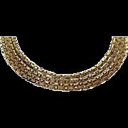 Antique 19th century Gold Muff Chain, English C.1890