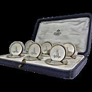 Asprey & Co Sterling Silver Place Card Menu Holders, London 1931