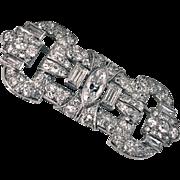 Art Deco Platinum Diamond plaque Pin Brooch C.1930