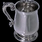 Large Georgian Silver Mug Tankard, London 1771