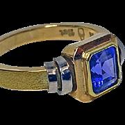 Tanzanite 18ct yellow & white gold Ring.