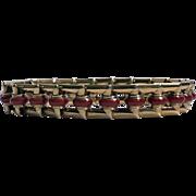 Art Deco 18K Carnelian Bracelet, C.1930