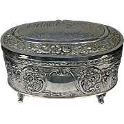 Judaica German Silver Etrog Box C.1920