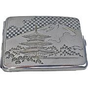 Fine Japanese 950 Silver Box Case, C.1920.