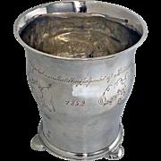Rare 19th century Scandinavian Silver Beaker, C.1852.