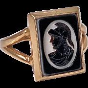 Antique 14K hardstone Intaglio Ring, C.1900