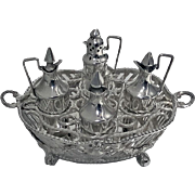 Rare Dutch Silver Miniature Toy Cruet Stamped IO and circlet, 19th century