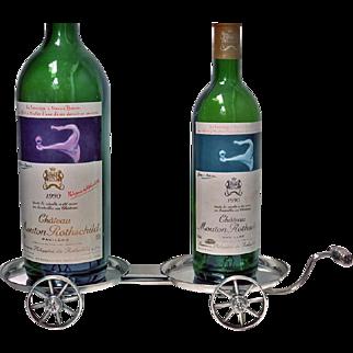 Rare 18th Century Georgian Wine Decanter Wagon Trolley, C.1800