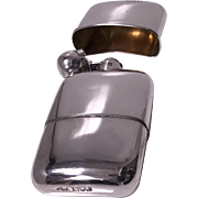 English Sterling Silver flask, London 1914, Sampson Mordan Co