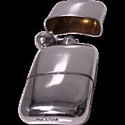 English Sterling Silver flask, London 1914, Sampson Mordan Co