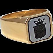 Antique Gold Sardonyx Ring, C.1890