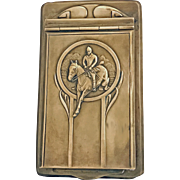 Art Nouveau Jugendstil WMF Brass Notepad, Germany C.1900