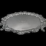 Georgian Silver Salver, London 1757, William & Robert Peaston