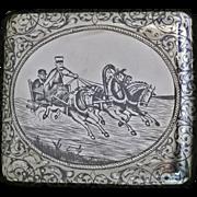 Fine Russian Silver Niello Box Case Moscow 1895. GK, Gustav Gustavovich Klingert