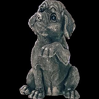 Sterling Statue Sculpture of Spaniel Dog, C.1995