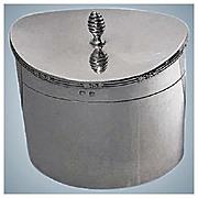 Sterling Silver Tea Caddy Box, Birmingham 1946, Charles S. Green