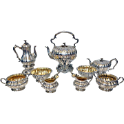 Garrard & Co 9 piece Tea and Coffee Service, London 1839-42 Original fitted Box