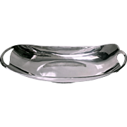 Mid Century Modernist Sterling Bowl of Scandinavian design, Aceves, Mexico C.1940