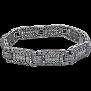Art Deco Diamond 18K Bracelet, C.1930