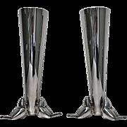 Christofle Art Deco Silver Plate Vase, C. 1930