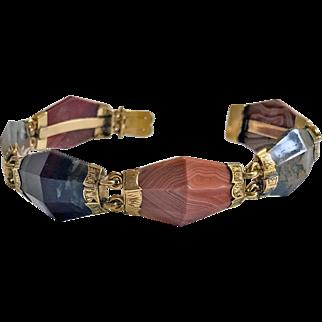 Antique Gold Agate  Bracelet, C.1875