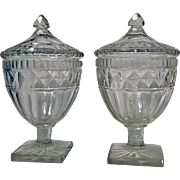 Pair of Georgian Anglo Irish Covered Urns Sweetmeats C.1800