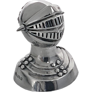 Silver Novelty Caster Knight in Armour, Chester 1908 by G.U
