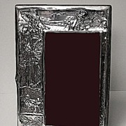 Art Nouveau English Silver Antique Photograph Frame, Birmingham 1906, James Deakin