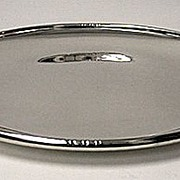 Sterling Silver Blossom Tray, probably Denmark C.1930