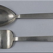 American Modernism Sterling hand made Servers, Adra,  C.1950