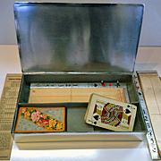 Rare Bridge Box WMF Art Deco Silver plate, Germany C.1920.