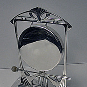 W.M.F Art Nouveau Secessionist Jugendstil Silver Plate Table Gong Bell, Germany C.1900 W.M.F.