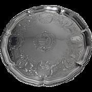 Large Robert Garrard Antique Silver Salver, London 1830 .