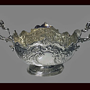 Fine Antique Victorian English Silver Centrepiece, London 1900, Barnard