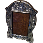 Art Nouveau Silver Photograph Frame, Birmingham 1906, Williams