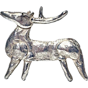 Walter Schluep Sterling Silver Reindeer Brooch Pin.