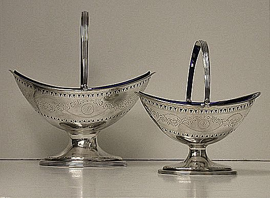 hester bateman pair of georgian silver baskets  london 1788 from louiswineantiques on ruby lane