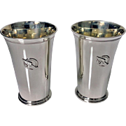 Pair of Tiffany New York Athletic Club Sterling Mint Julip Cups, C.1937