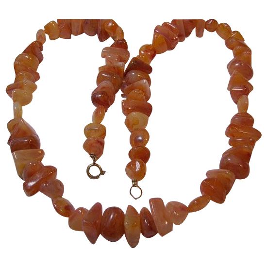 Vintage Opaque Unique Amber Chips Necklace