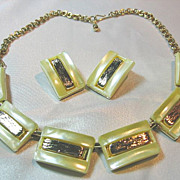 Lucite Necklace & Earrings Vintage Set