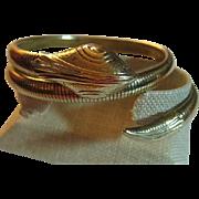 Coiled Vintage Brass Snake Arm Bracelet